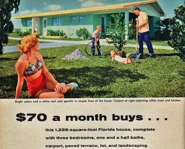 1950s Homes $70 a month buysthis 1,226 square-foot florida house | 1950s