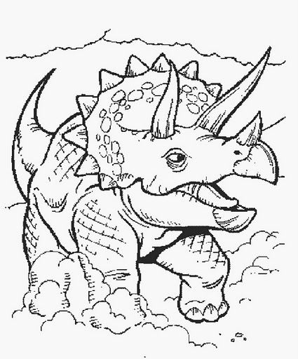 dino5 (425×512) | ausmalbilder, ausmalen, dinosaurier