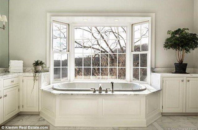 Million Dollar Listing Star Fredrik Eklund Buys Connecticut Mansion - Master bathroom windows