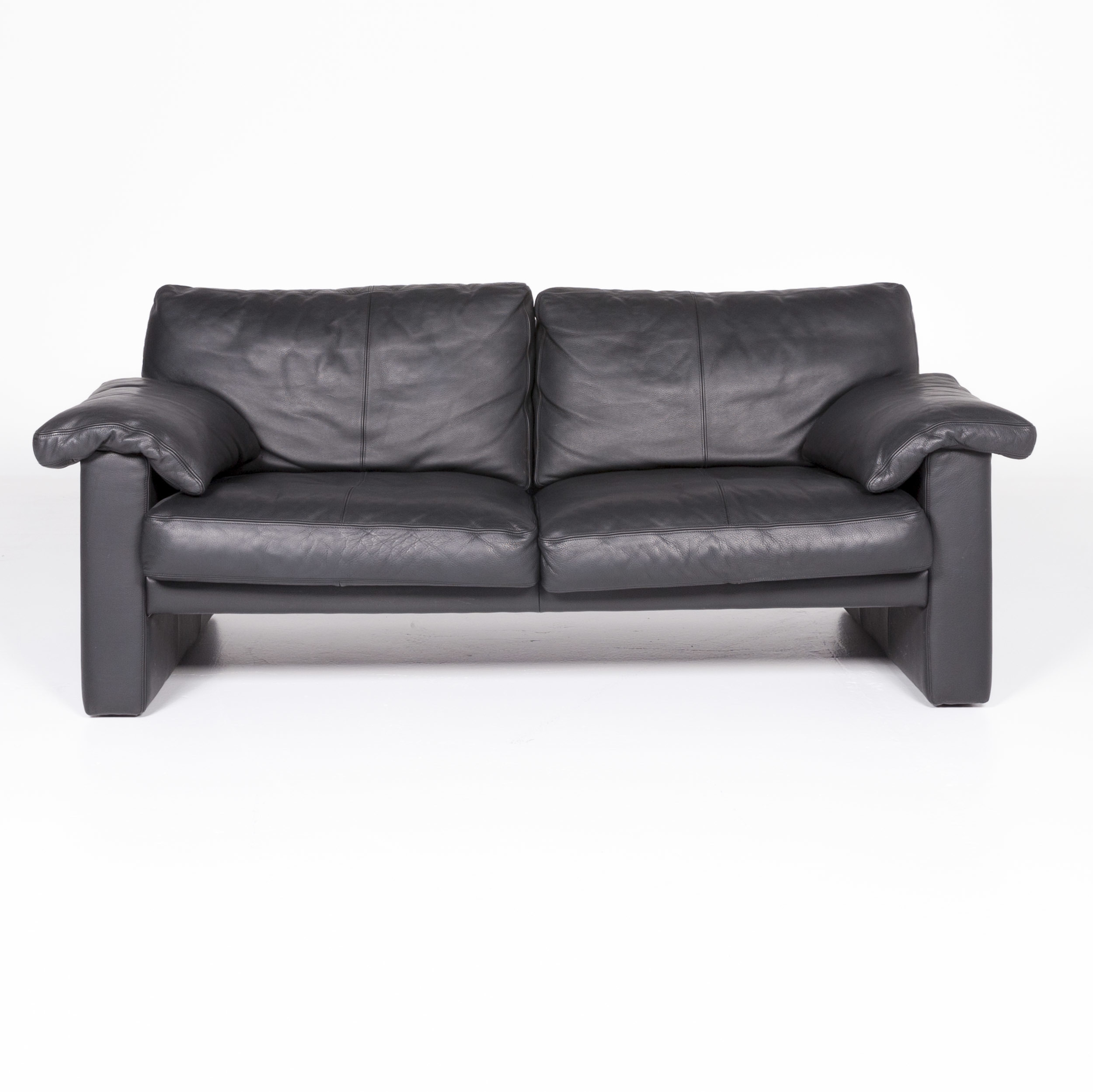 Erpo Cl 300 Designer Leather Sofa Black Genuine Leather Two ...