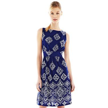New line of affordable dresses at JcPenny - Joe Fresh Print Gathered Dress for $24