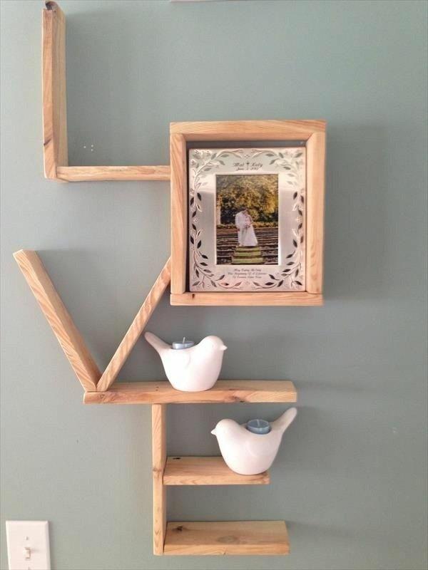 la construction avec des palettes boîtes en bois étagère en bois