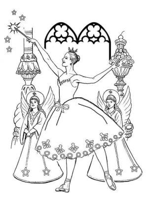 Sugar Plum Fairy From Nutcracker Coloring Pages | Fairy ...