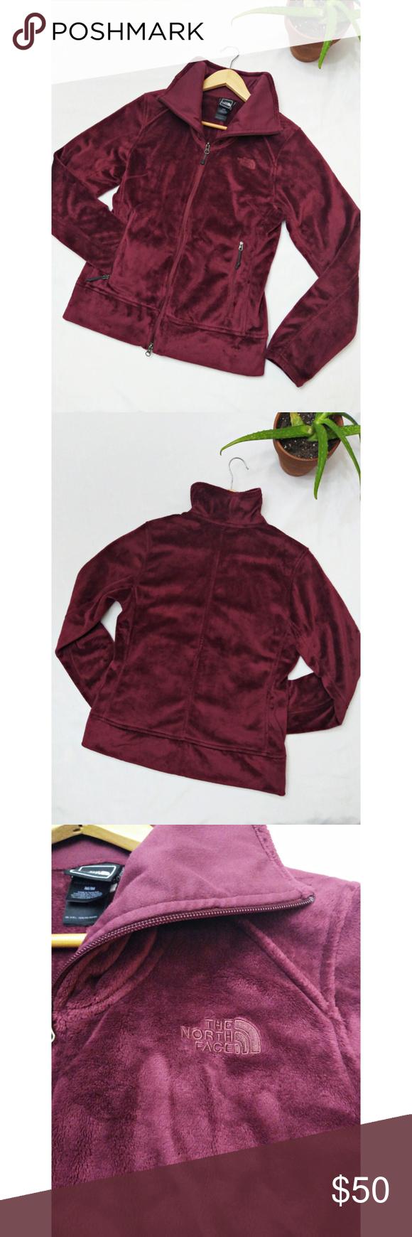 The North Face Soft Silken Fleece Shiso Jacket M Women S The North Face Shiso Full Zip Up Jacket Size Medium Burgundy Ra High Collar The North Face Jackets [ 1740 x 580 Pixel ]