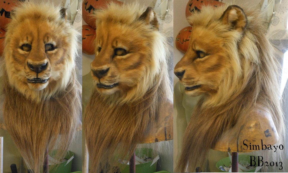 Symbayo Lion Head by Magpieb0nes on DeviantArt | Fursuits in