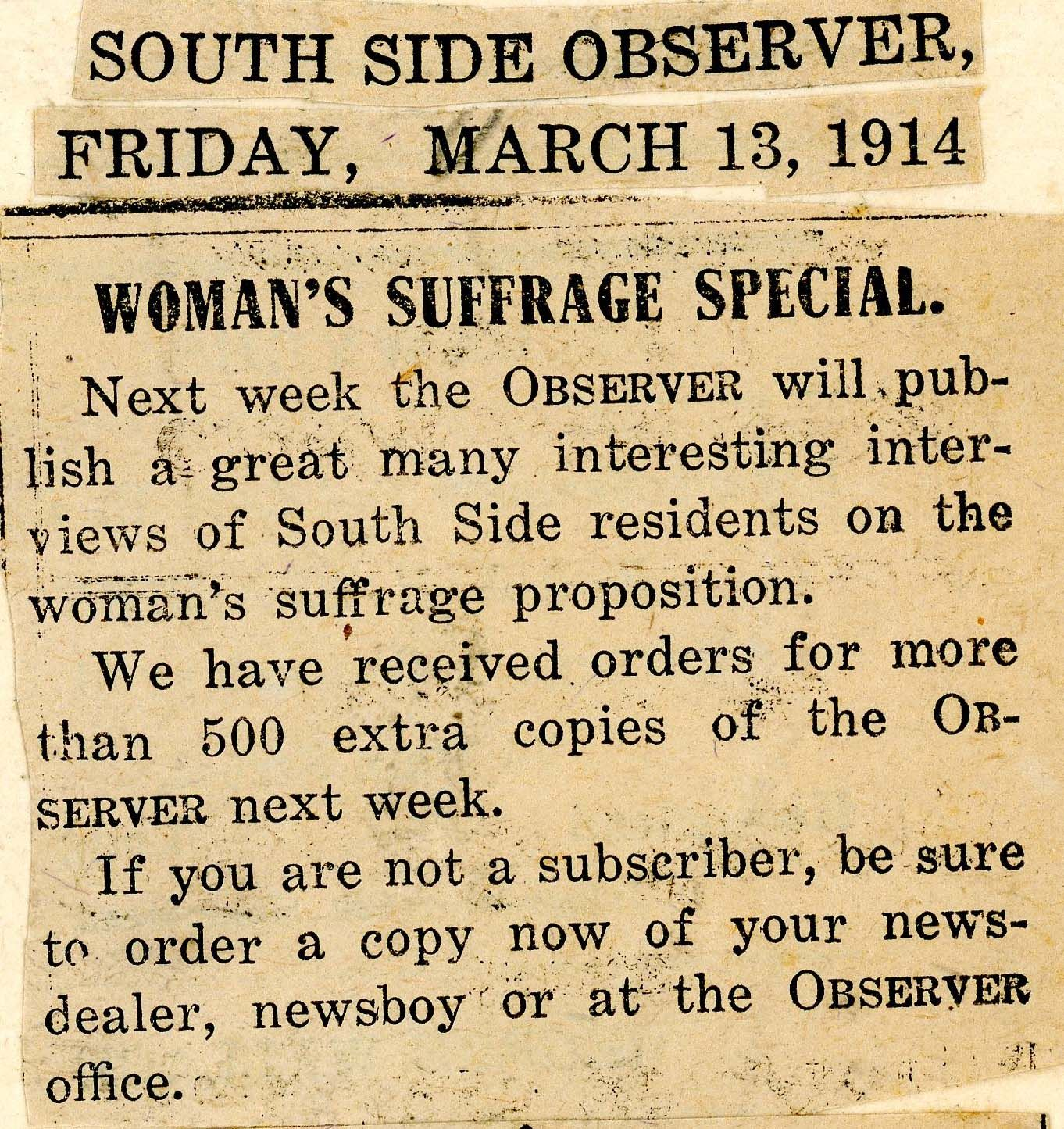 the women s suffrage movement was a big topic that covered the the women s suffrage movement was a big topic that covered the newspaper front page many times