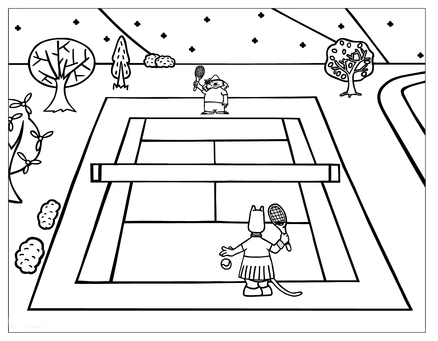 Animated Tennis Game