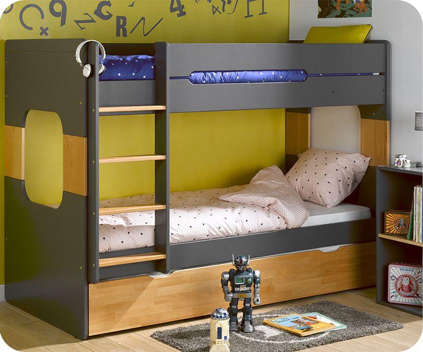 Great Monpetit kinderzimmer de stellt Ihnen das Etagenbett Spark grau und nat rliche Buche xcm vor