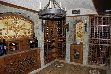 Old World Decor Style Mediterranean Wine Cellar Orange County
