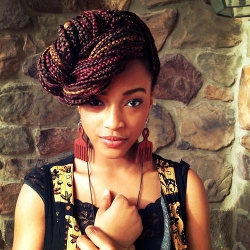 Elegant Style For Box Braids Hair Styles Braided Hairstyles Braided Hairstyles For Black Women