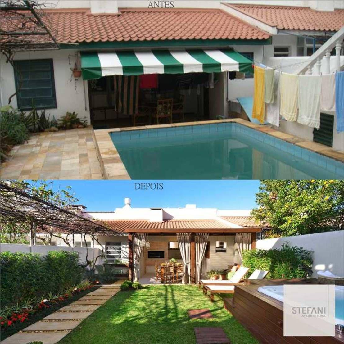 El antes y después de un patio SENSACIONAL