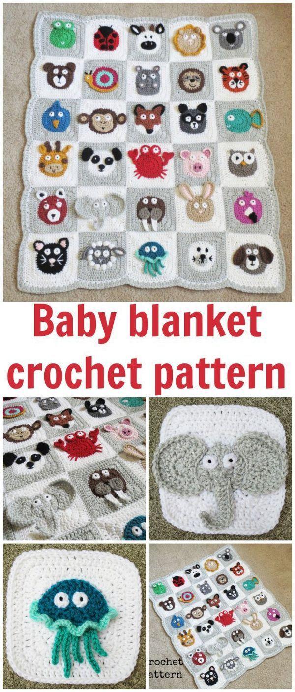 Crochet Zoo Baby Blanket Pattern