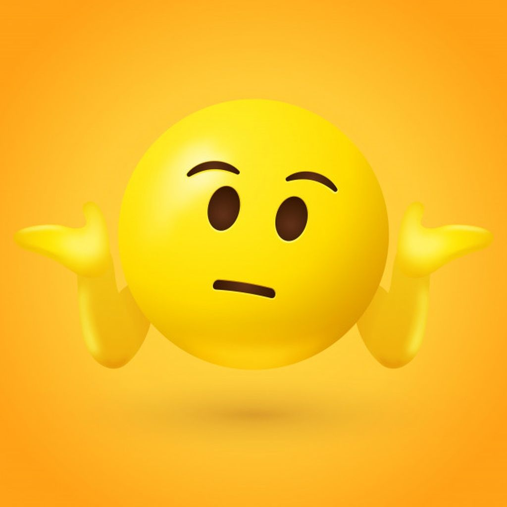 Puzzled Emoticon Shrugs Shoulders Paid Affiliate Paid Emoticon Shrugs Shoulders Puzzled In 2020 Emoticon Blue Backdrops Color Vector