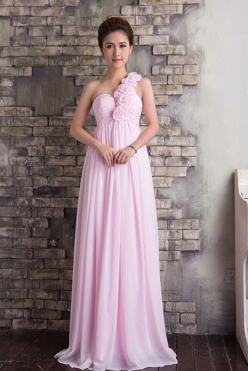 Click to buy ucuc vestido de noiva long bridesmaid dresses pink