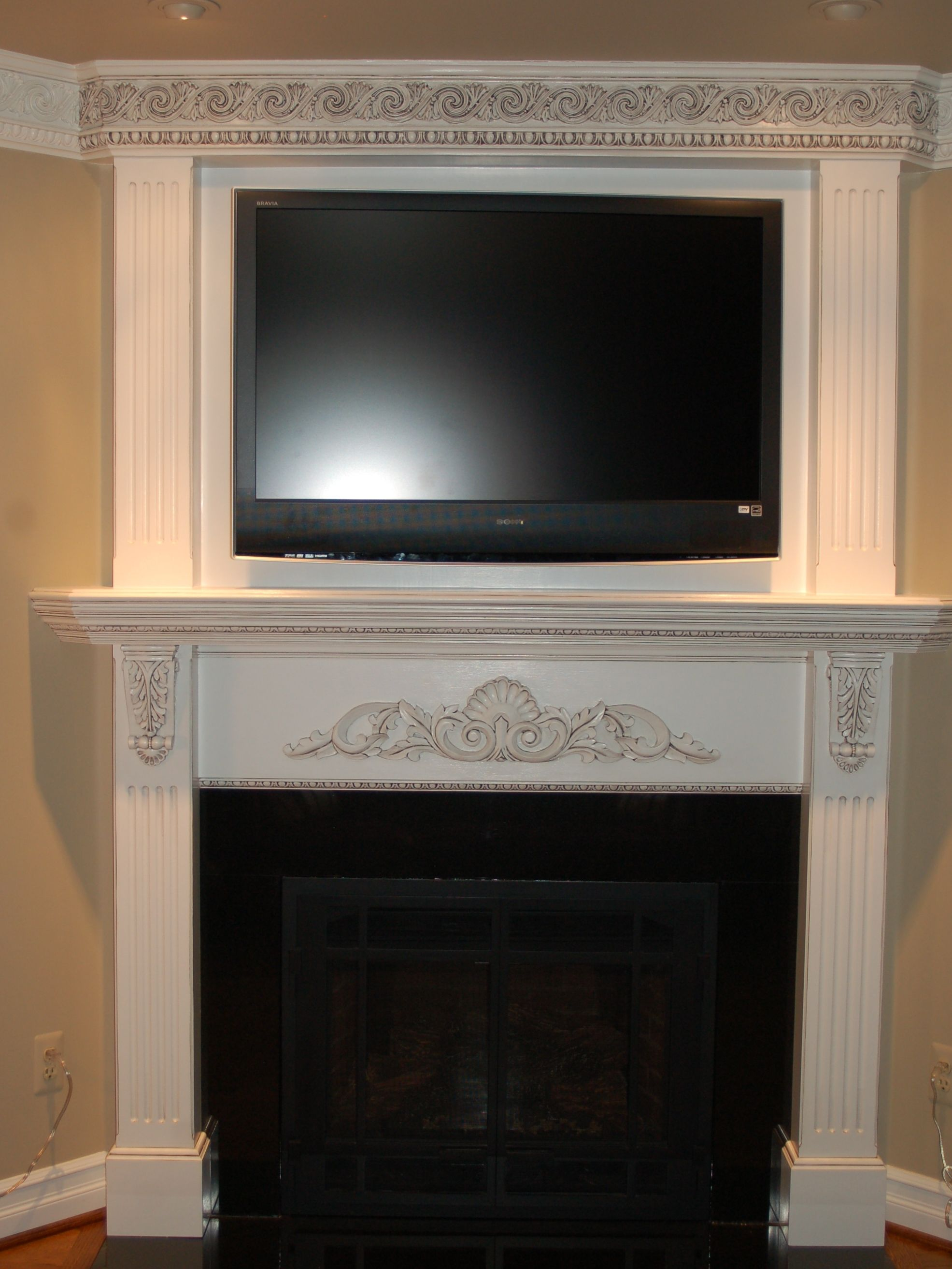 decorated fireplaces decorating