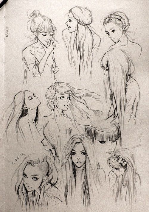 fantasy girl hair i love this so much wanna draw people with this hair