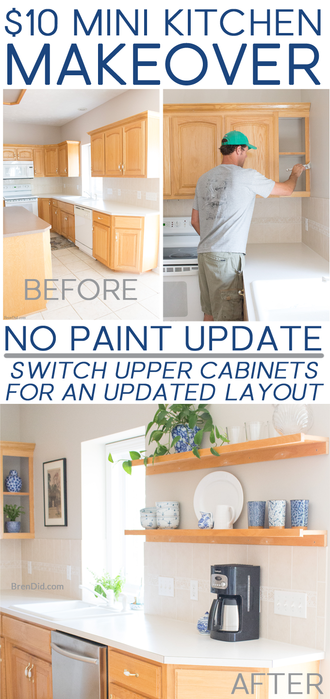 Lovely Kitchen Cabinet Makeover without Paint
