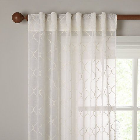 Amazing Buy John Lewis Zagora Hidden Tab Top Voile Panel Cream from our Ready Made Curtains & Voiles range at John Lewis Top Search - ready made curtains Elegant