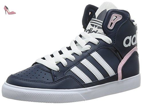 official photos 60fc9 07437 adidas Extaball, Sneakers Hautes Femme, Bleu (Collegiate NavyFtwr White Clear
