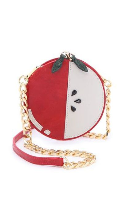 This alice + olivia purse is the apple of our eye.