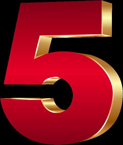 3d Number Five Red Gold Png Clip Art Image Clip Art Art Images Valentines Scrapbook