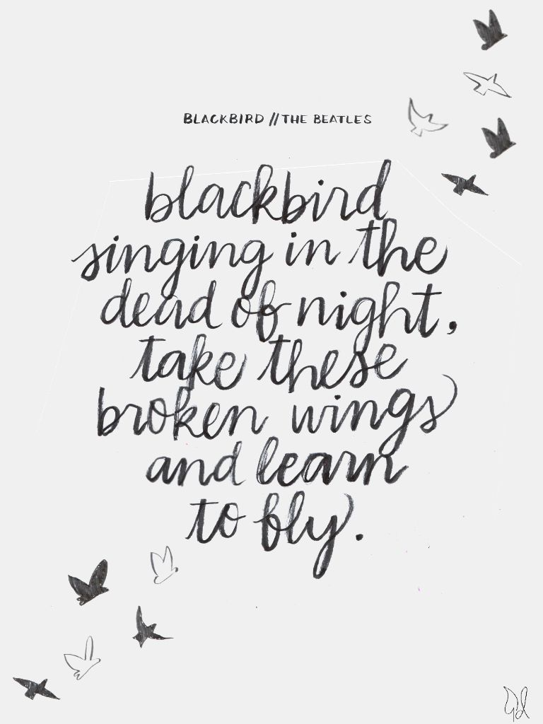 Beatles Quotes Love Hope  Blackbird Singing In The Dead Of Night Take These Broken