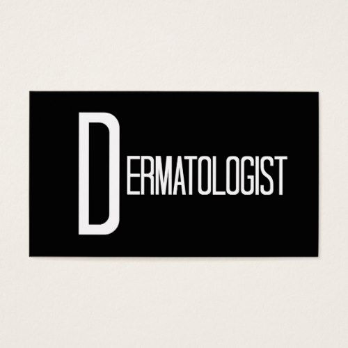 Dermatologist Word Business Card