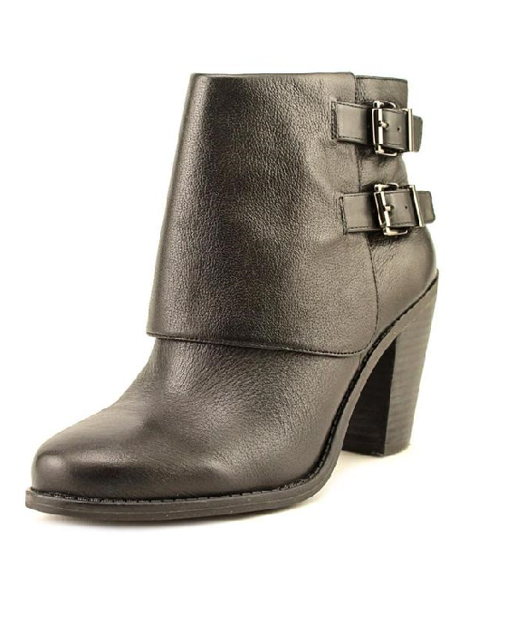 e2cbe76bed9 Jessica Simpson Women s  Cainn  Black Leather Mid-heel Boots