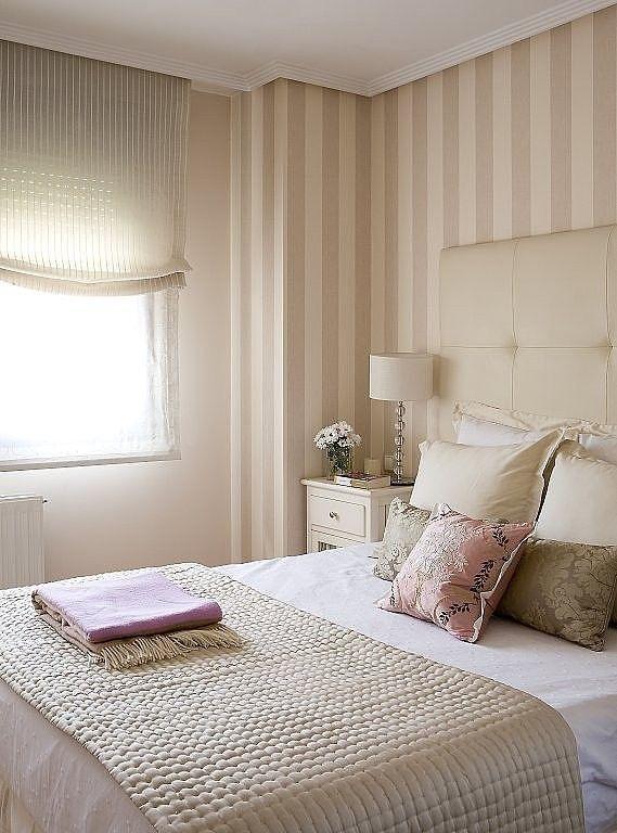 Papel pintado rayas blanco y beige claro pds61335240 - Papel pared rayas verticales ...