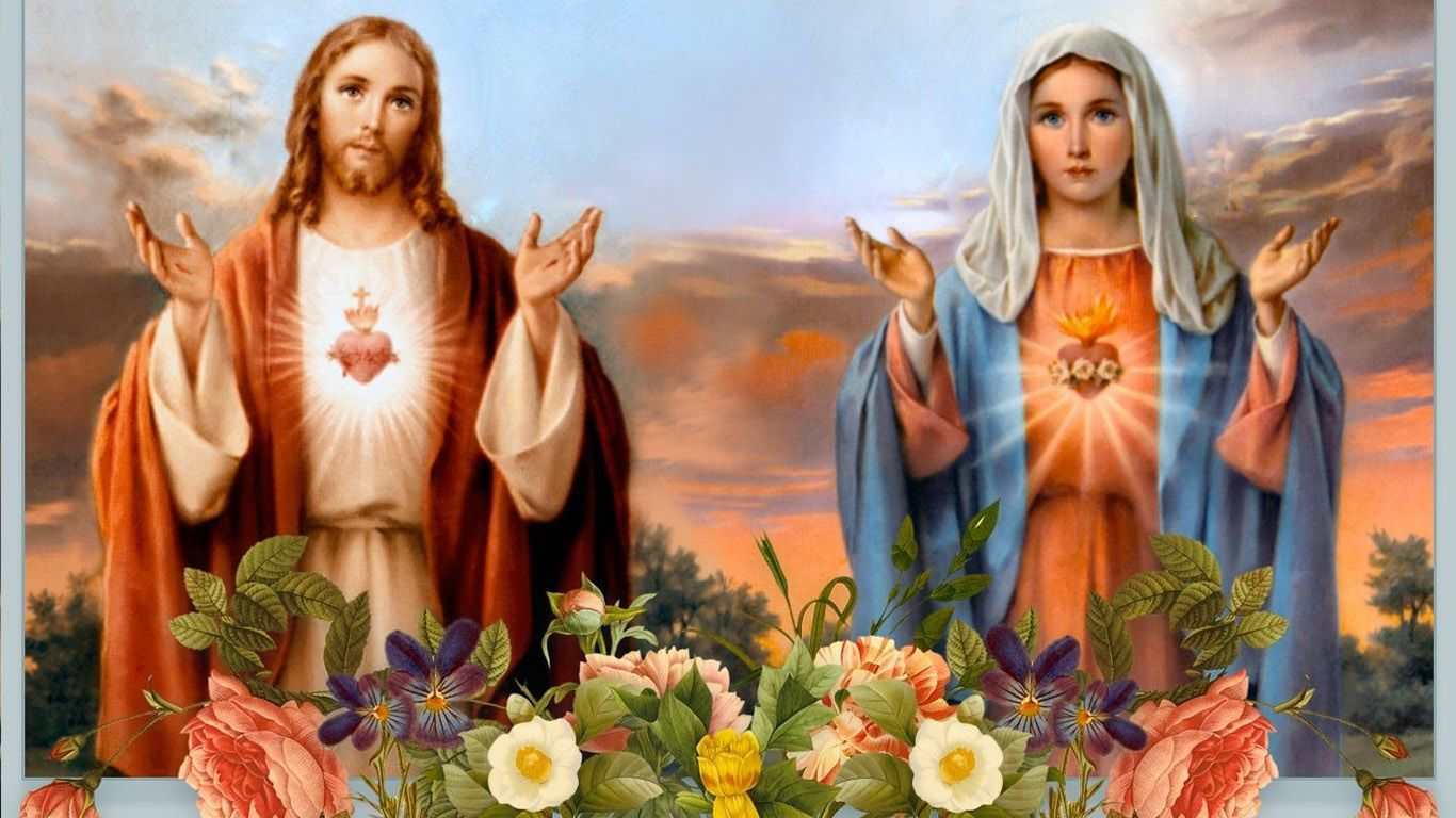 Jesus And Mother Mary Hd Images Free Download Christian Wallpaper Mother Mary Jesus Mary And Joseph