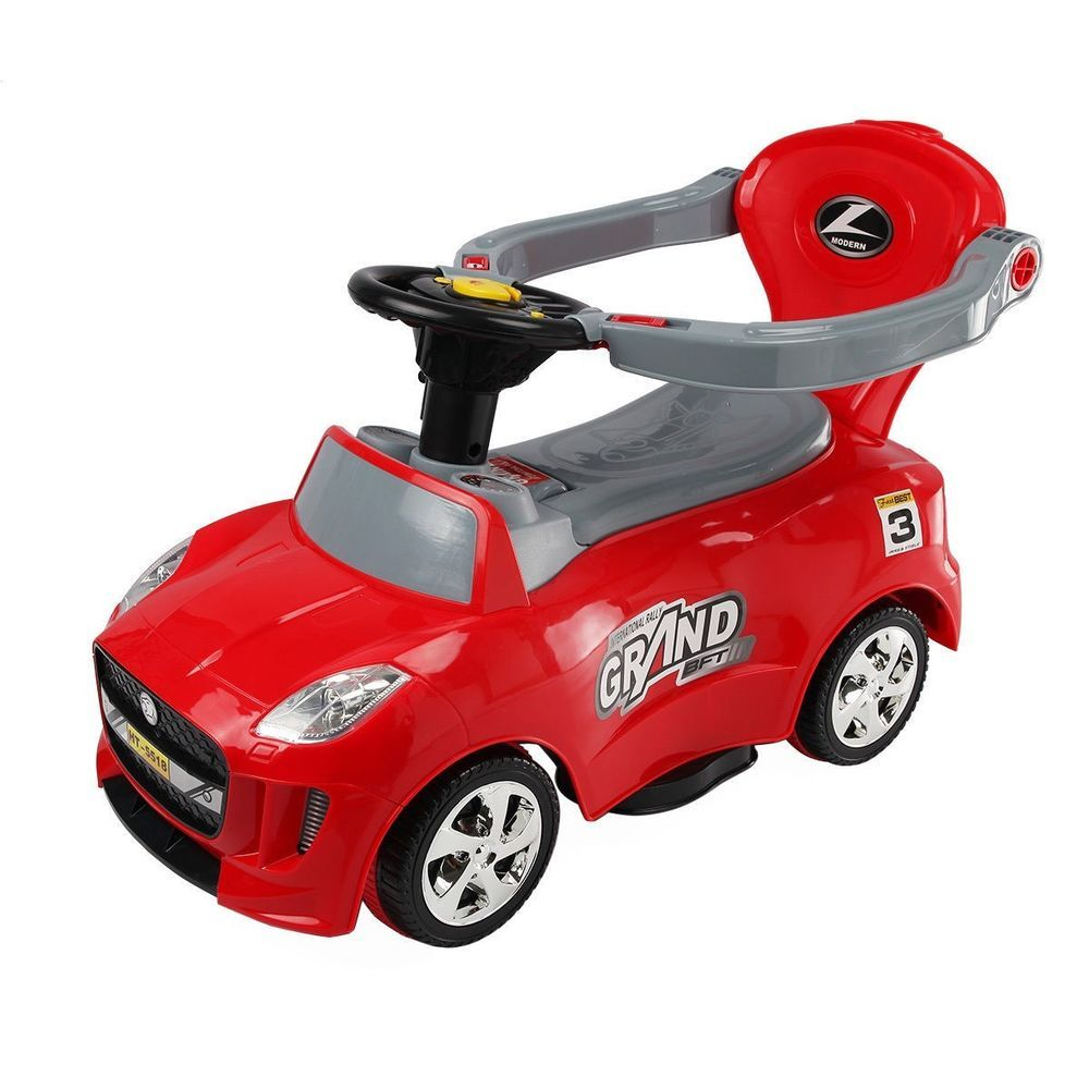 Kids Ride On Push Car  in  Toddler Toy w Handle Horn Music