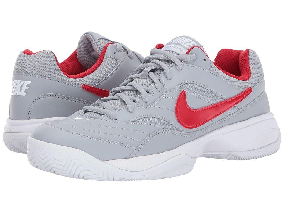 Nike Court Lite Men S Tennis Shoes Wolf Grey University Red White Mens Tennis Shoes Shoes Sneakers Nike