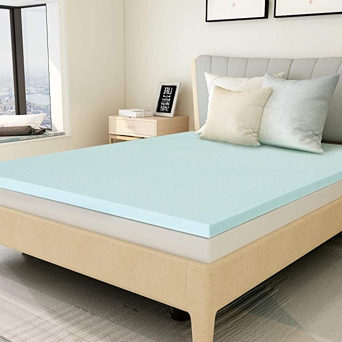 Amazon Com Mattress Topper Twin 1 5 Inch Gel Memory Foam Mattress Topper Pad For Twin Size Bed Kit In 2020 Memory Foam Mattress Topper Foam Mattress Topper Mattress