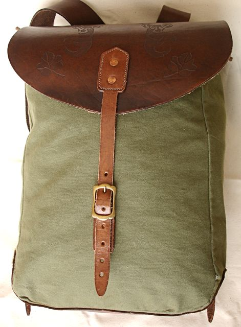 Diy Rucksack Canvas Bag Diy Diy Bag Belt Leather Rucksack