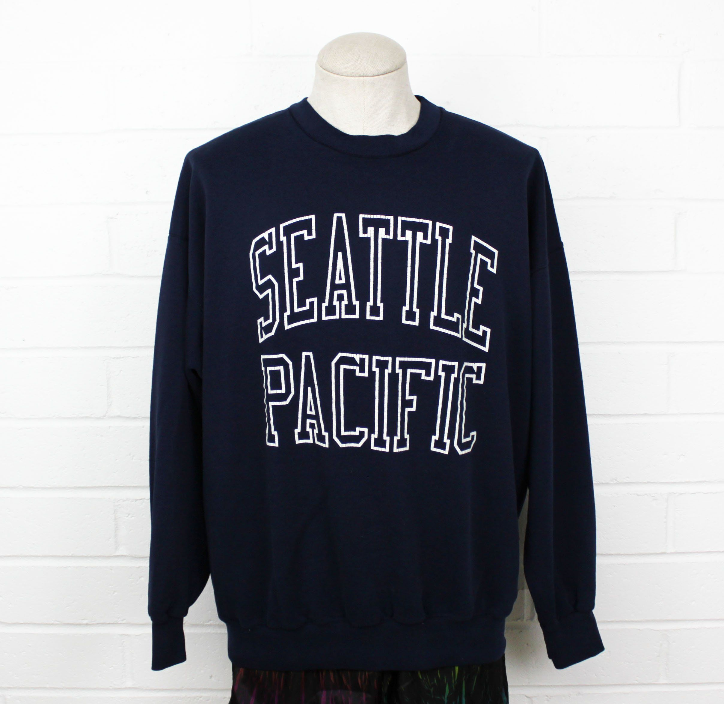Vintage 80s Seattle Pacific University Sweatshirt Baggy Soft XXL 2XL Navy  Blue College Crew Neck Sweater by Nack4VintageShop on Etsy 12b6b09d8