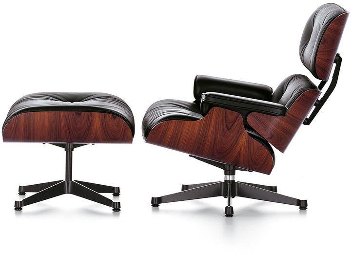 Vitra Lch Xl Eames Lounge Chair Ottoman Santos Palisander Black By Vitra Vitra Lch Xl Eames Charles Eames Lounge Chair Eames Lounge Chair Eames Lounge