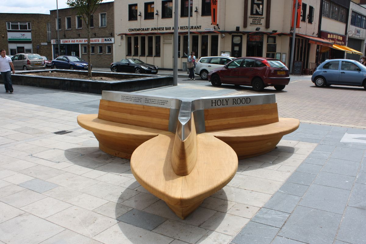 this public bench in southampton is inspired by the trefoil gothic
