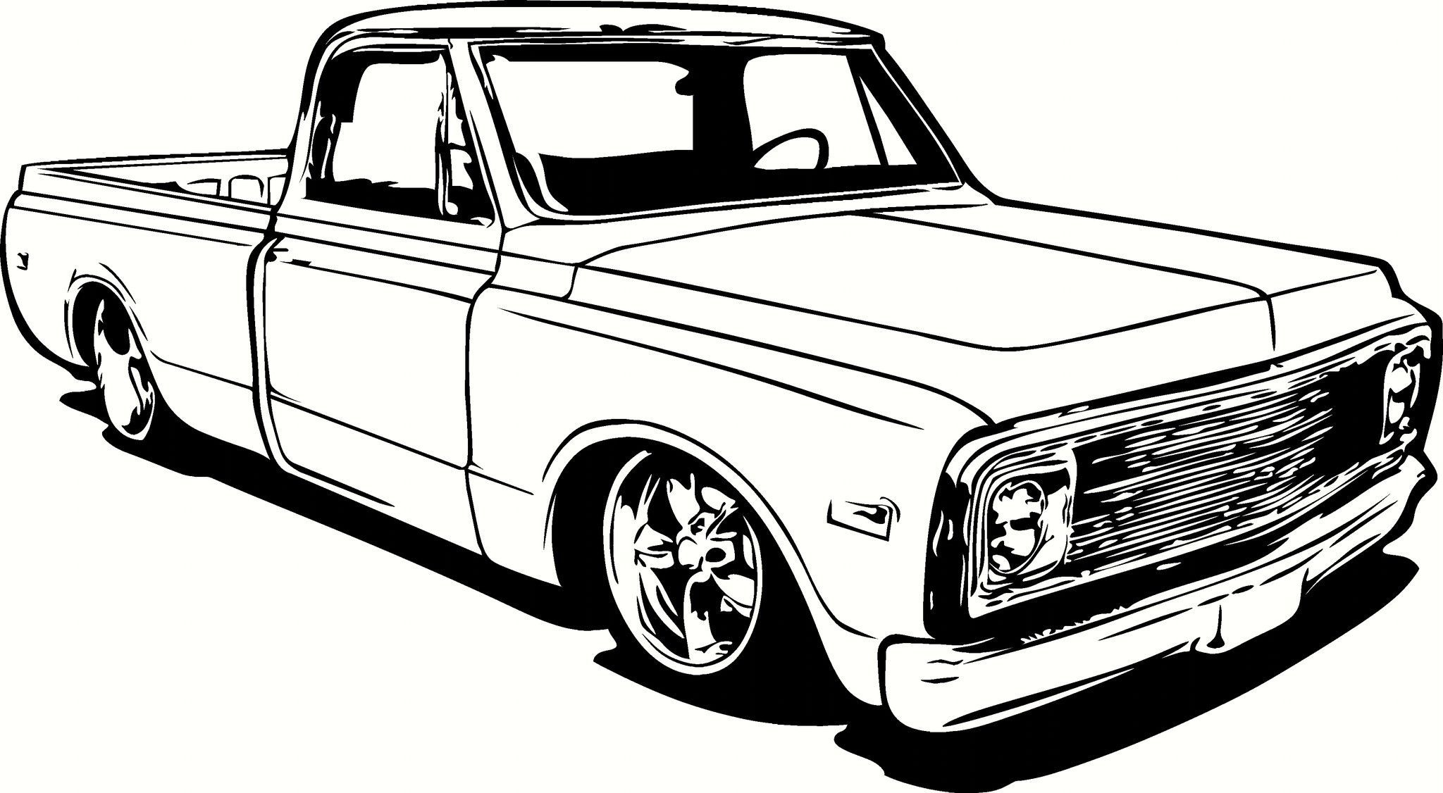 Chevrolet C10 Pick Up Truck Vinyl Cut Out Decal
