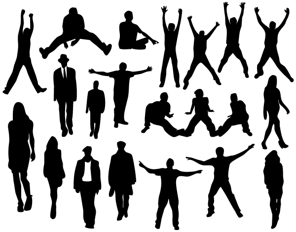 People Silhouettes Images Download Free Vector Art Silhouette Images Silhouette Vector Human Clipart