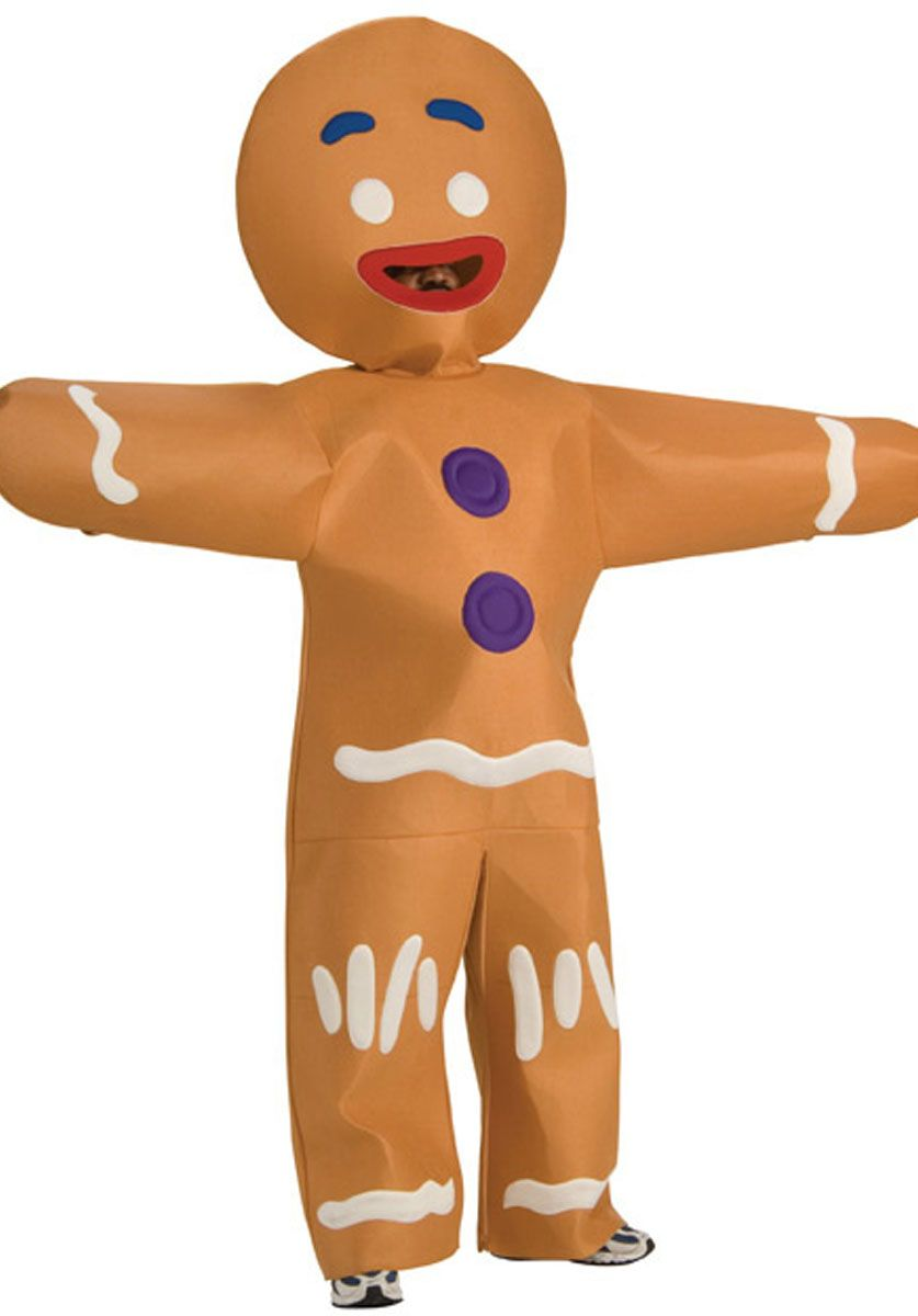 Child Little Ginger Man Gingerbread Costume Boys Kids Brown Book Week Christmas