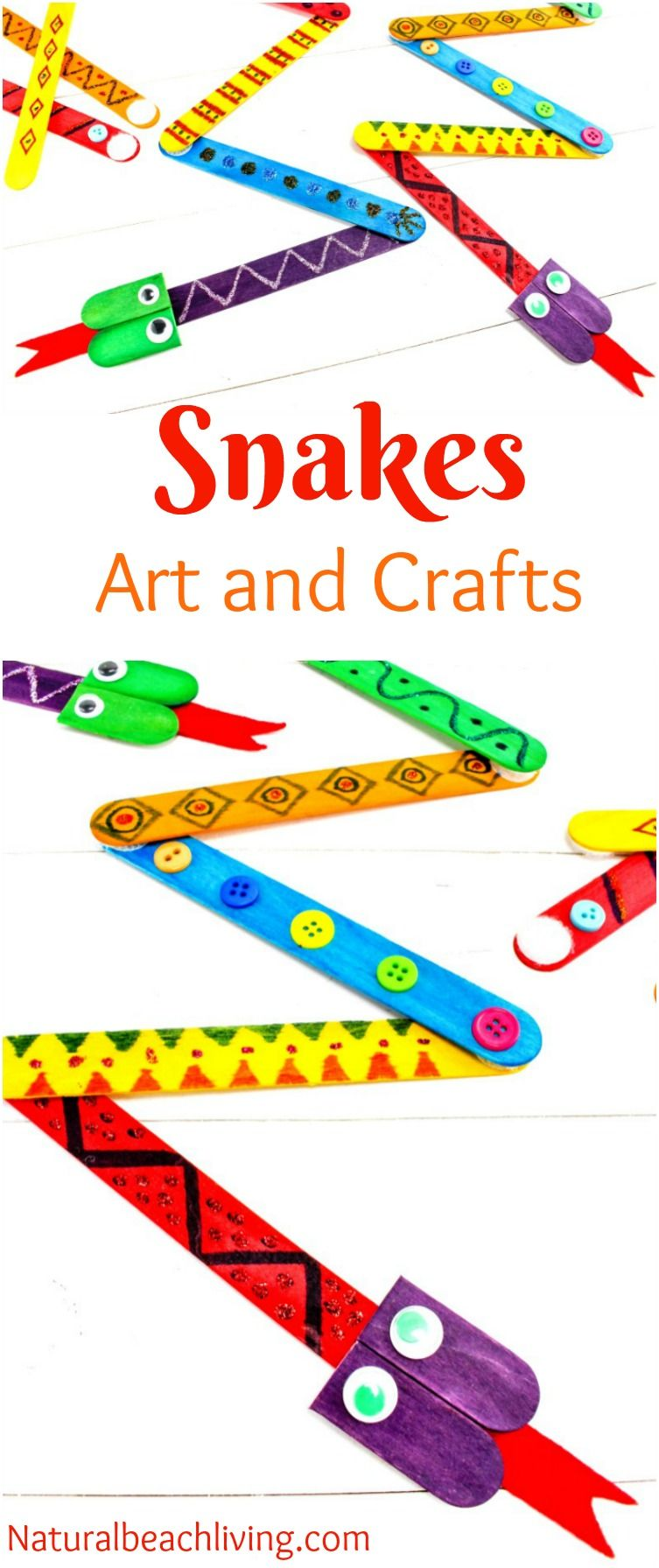 The best snake crafts preschoolers love to make for Reptile crafts for kids