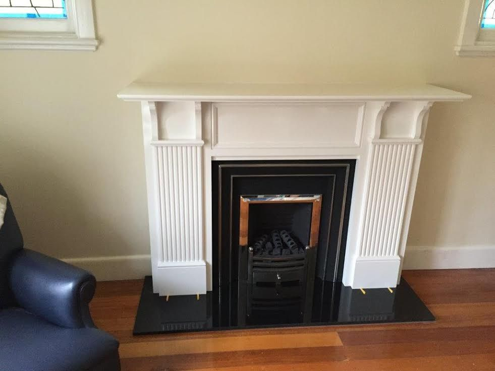 this image shows the recent installation of a real flame hot box
