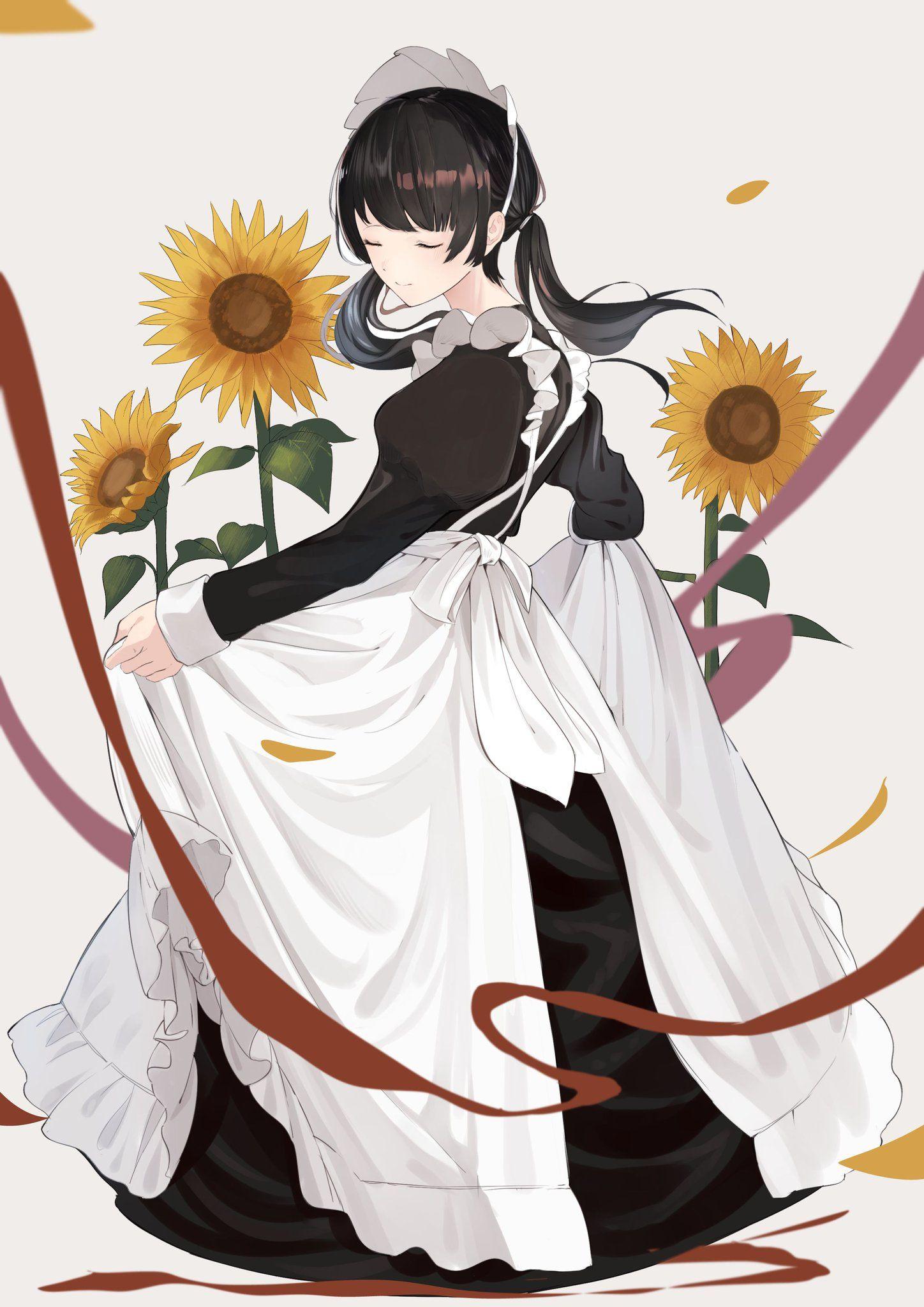 栞 しい On アニメの女の子猫かわいいアニメの女の子