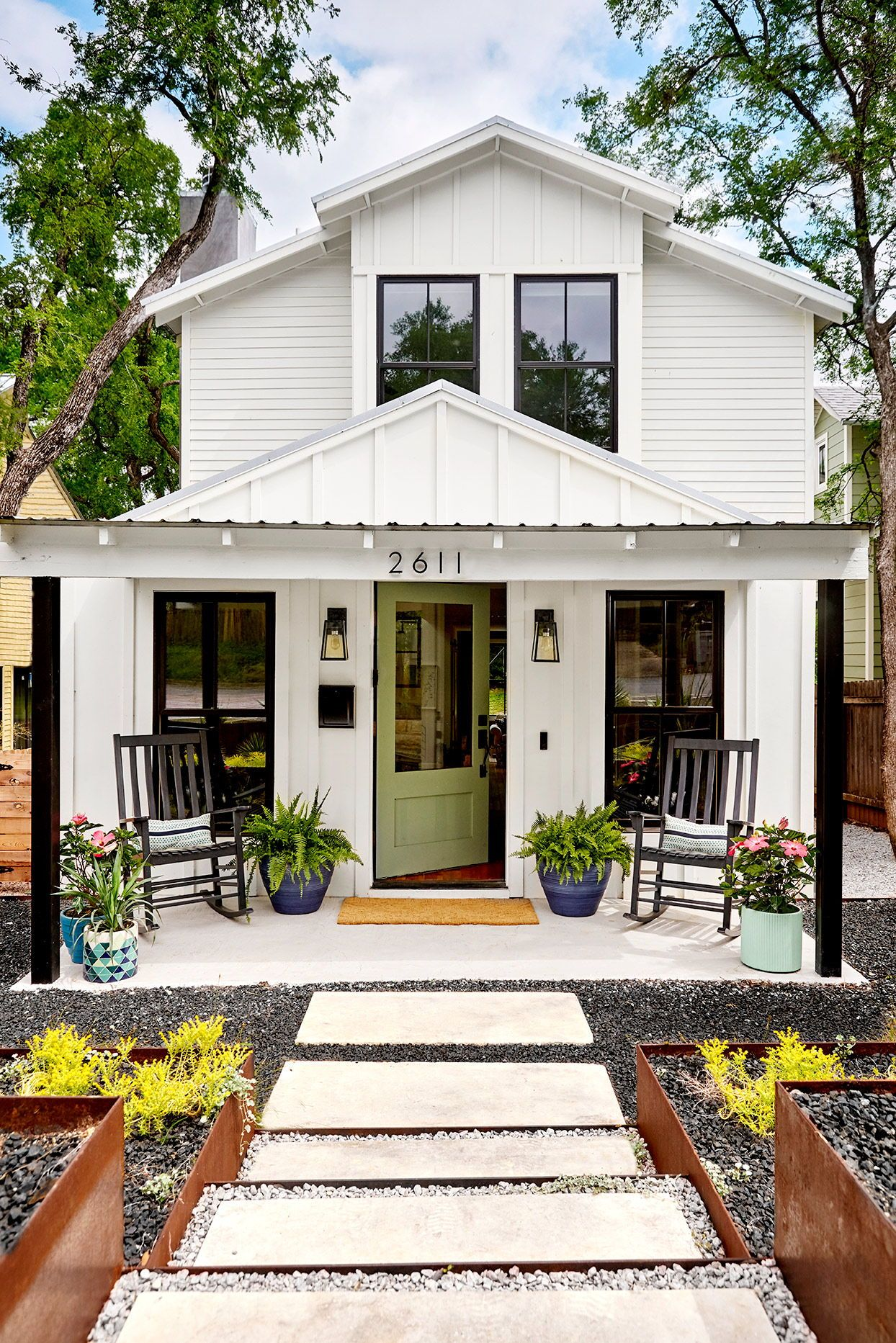 6 Essential Curb Appeal Ideas For Front Porches White Exterior