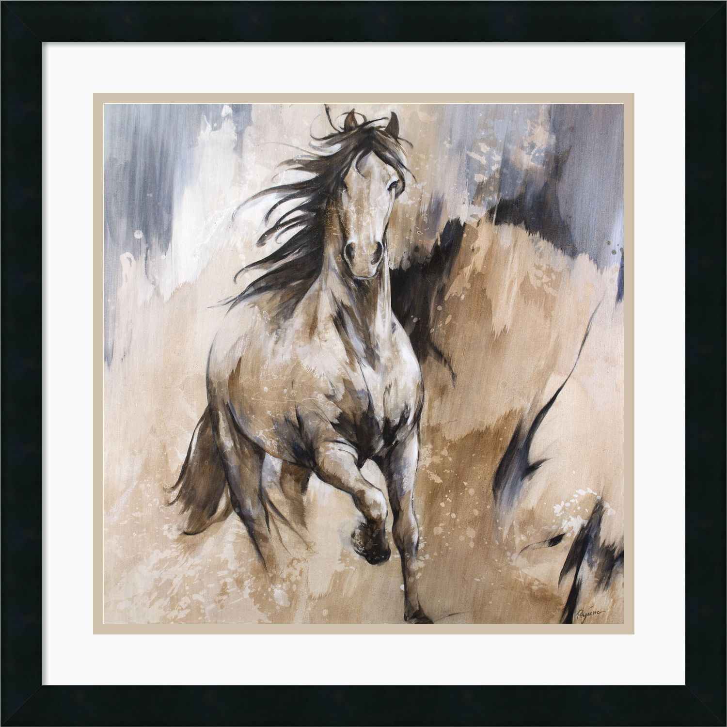 Framed Art Print \'Frison Horse\' by Cyril Reguerre 22 x 22-inch ...