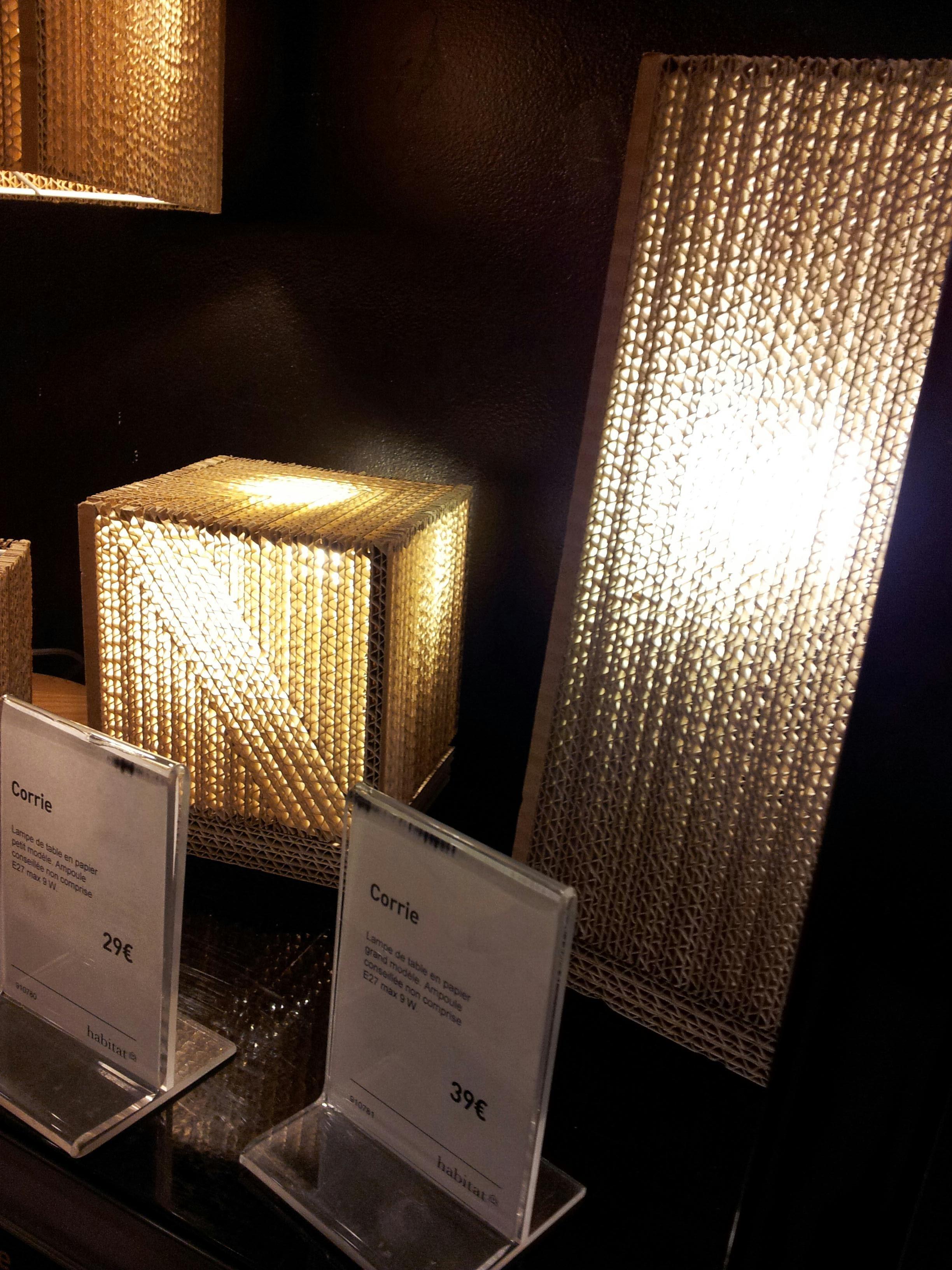lampes en carton meuble en carton Pinterest