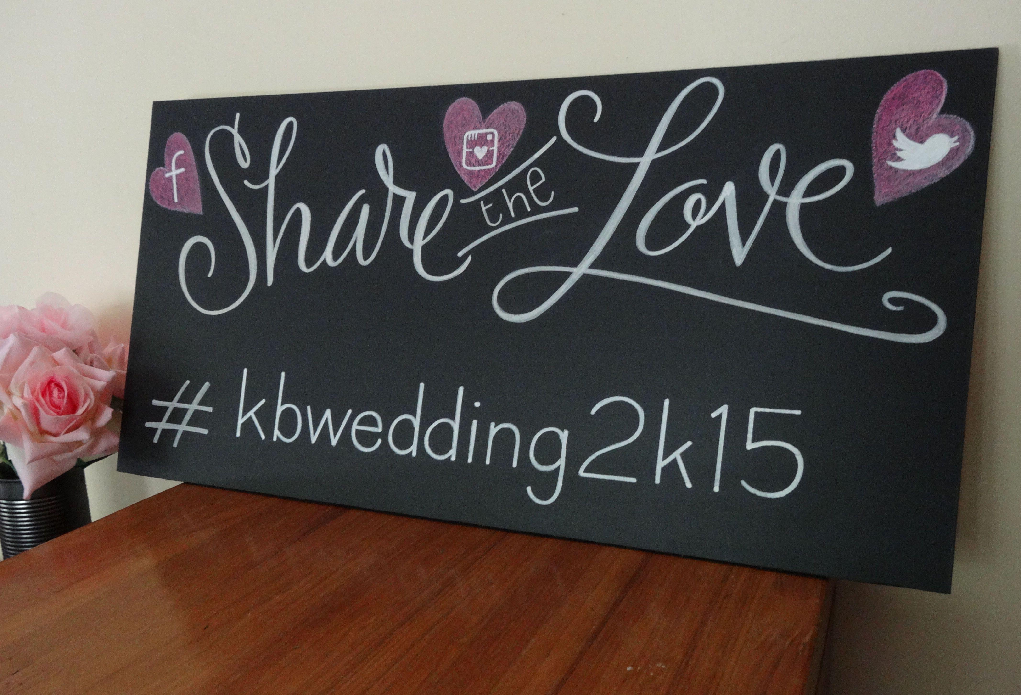 11+ Wedding hashtag chalkboard sign ideas