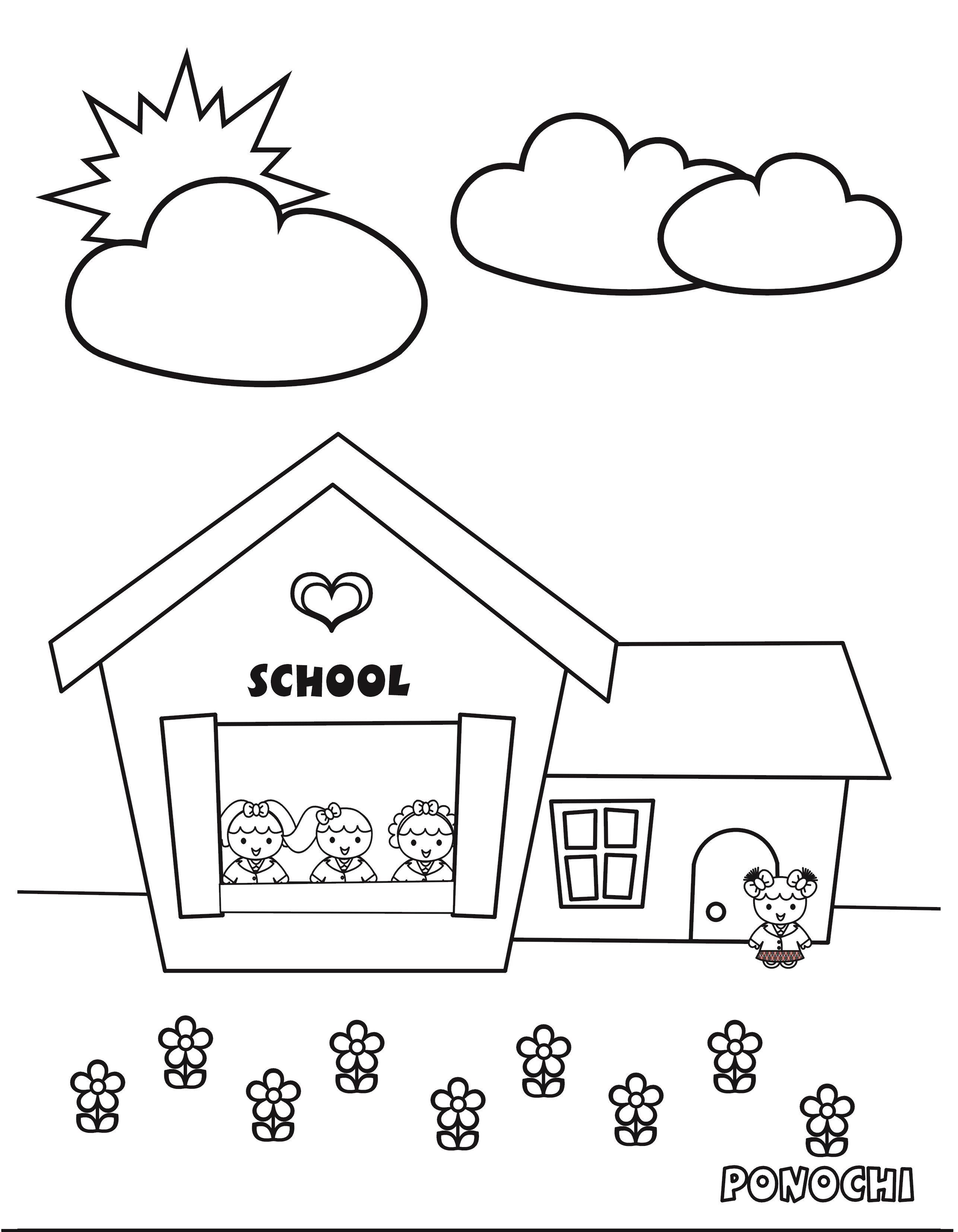 School Ponochi Para Colorear