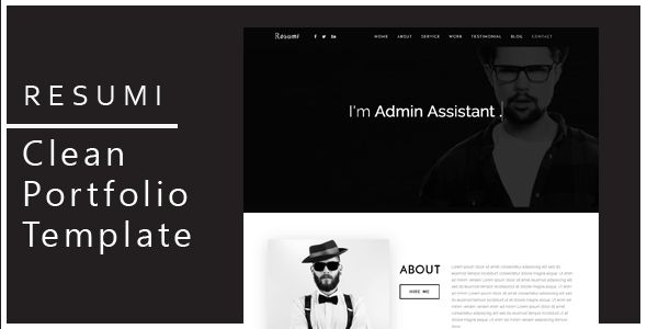 Resumi – is a Modern Landing Page HTML Template. This Template is ...