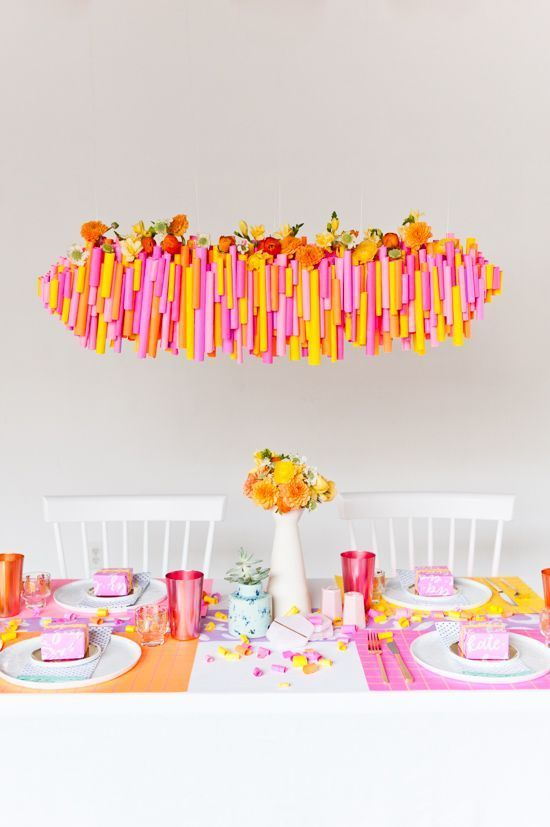 5 budget friendly diy ways to colorize your dinner table